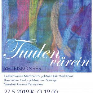 Artikkelin Tuulen värein -konsertti 27.5. Helsingissä esikatselukuva